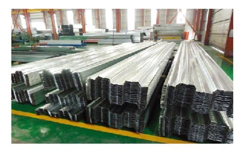 钢制楼承板生产线